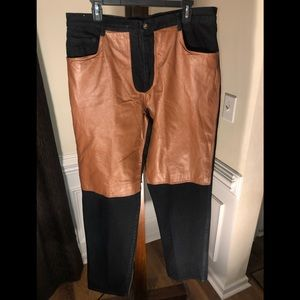 Dont Stop Vintage Jeans High Waisted Leather
